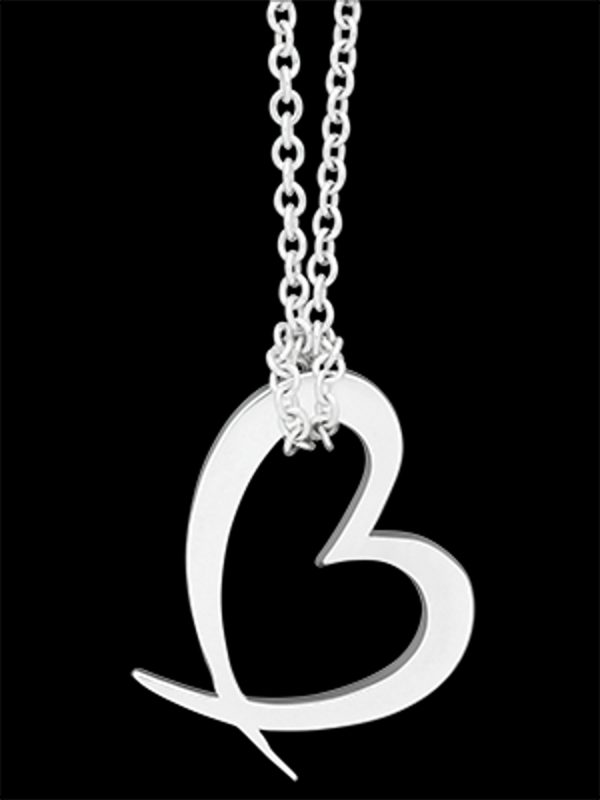 Silver Charm as necklace